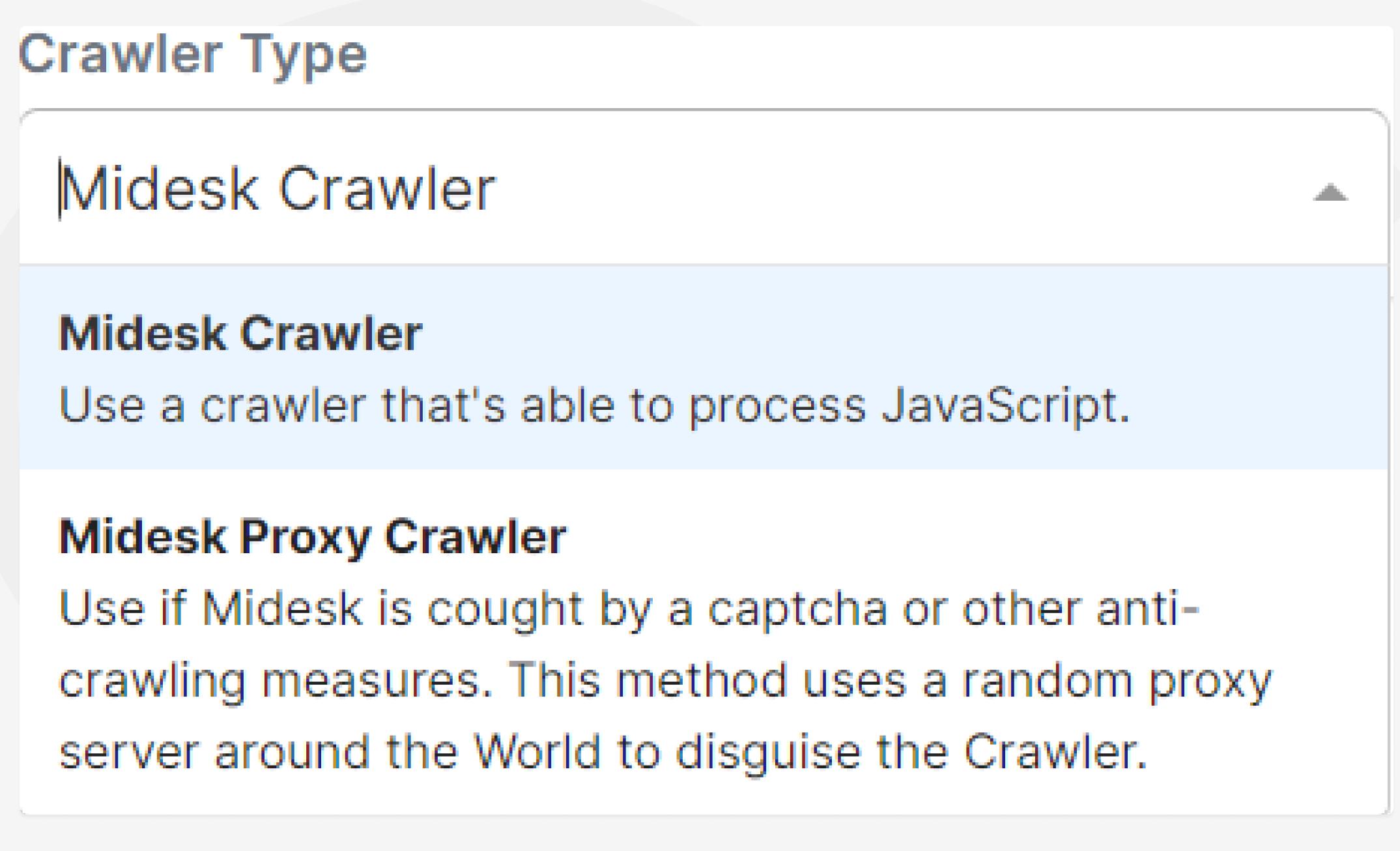 Baselines zoom Monitoring Job-  Crawler Type